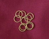 12mm Flat Brass Rings for 'Blandford Cartwheel' Dorset or Thread Buttons - Authentic for Historical Clothing - Pack of 10