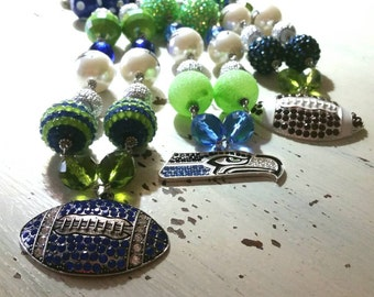 Seattle Seahawks Bling Necklace