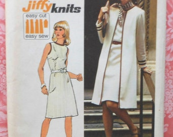 Vintage Coat and Dress Sewing Pattern UNCUT Simplicity 6200 Size 40 & 42 Plus Size