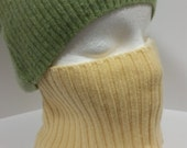 Light Yellow Cashmere Face Mask * 100% Cashmere L/XL *  Nose Face Warmer Scarf * Men Women  by Tejidos on Etsy Upcycled Sweater