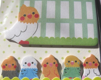 Parakeet bird cage sticky note for planner scrapbooking card making paper memo ship from USA