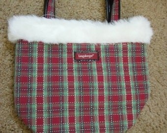 Gorg Longaberger XMAS purse--New Cond