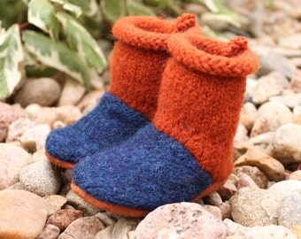 Wool Baby Booties 0-6 mo.