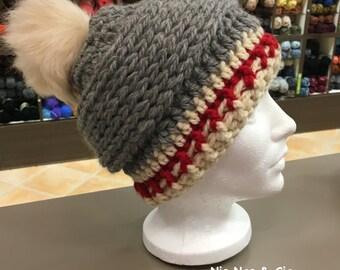 Bonnet au crochet, style travailleur