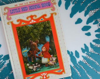 Vintage Puppet Storybook with Lenticular Cover - Little Red Riding Hood