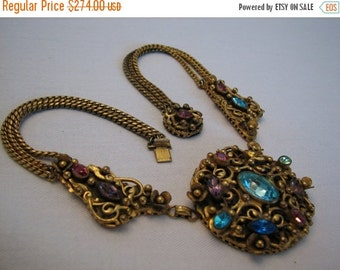 Art nouveau rose and white rhinestone vintage by for Fall into color jewelry walmart
