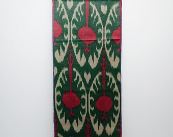 red green ikat fabric by the yard