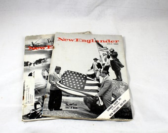 2 New Englander Magazine. June, July 1959. New England, North East. New England. Retro Periodical, Summer Fun in New England. Vintage Mag.