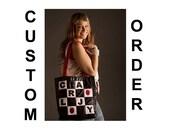 CUSTOM order for Diane -- Grey Hobo Shoulder purse bag Large washable vegan shoulder bag purse CarolJoyFashions78