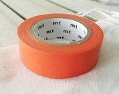 Solid Carrot Orange Washi Tape Japanese Carrot Orange masking tape  (187) - PrettyTape