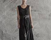 Winter Sale 15% Off!!! Black net evening prom maxi dress Bridesmaid dress