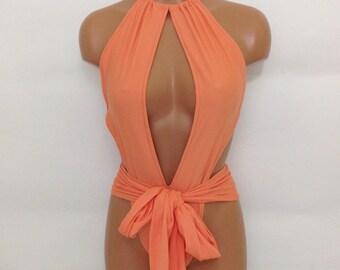 One piece wrap swimsuit Various colors