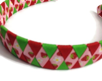 Strawberry Woven Headband