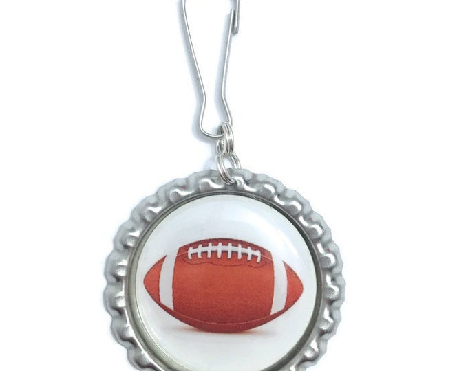 Football Keychain, Keyring, Zipper Pull, Purse Charm, Wallet Charm - Handmade To Order