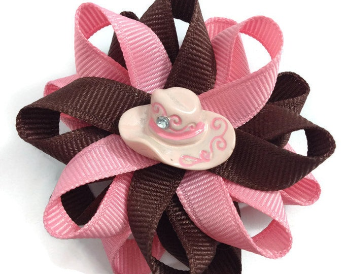 Pink Cowgirl Handmade Hair Bows
