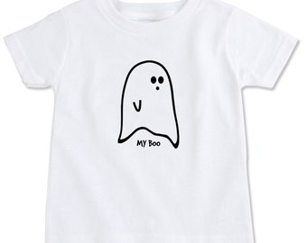 My Boo Ghost Halloween Organic Cotton Toddler Tee