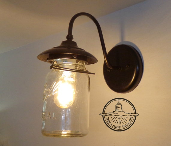 EXTERIOR Mason Jar Light Wall SCONCE For Outside By LampGoods
