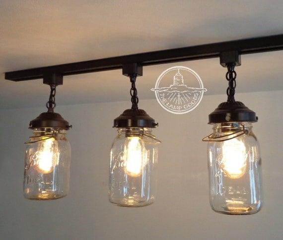 Mason jar track lighting with vintage quarts like this item aloadofball Choice Image