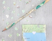 Personalised Map Location Pencil. Perfect as wedding favours or gifts. Pick whatever quantity you need