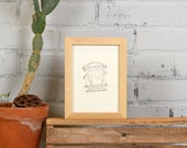 """5x7"""" Picture Frame in PeeWee Style with Solid Natural Poplar Finish - IN STOCK - Same Day Shipping - Gallery Frame 5 x 7"""