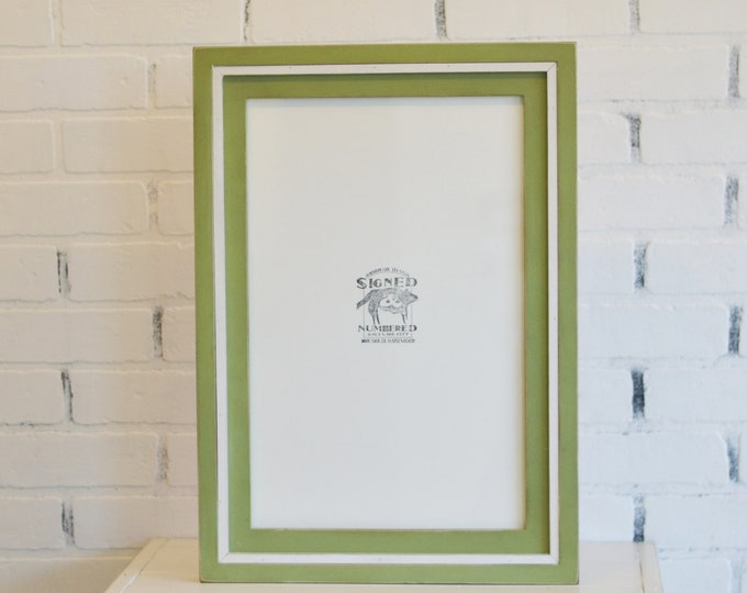 11x17 inch Picture Frame in Cooper Build Up Style with Vintage Color Combination OF YOUR CHOICE - 11x17 Art Frame - Wooden Poster Frame