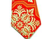 Orange Neckties Orange and Aqua Neckties Wedding Neckties Orange Wedding Neckties Custom Neckties