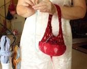 Felt Yarn Bowl Kit Red, Yarn Bag Kit, Yarn Pod Kit, Knit Crochet Kit