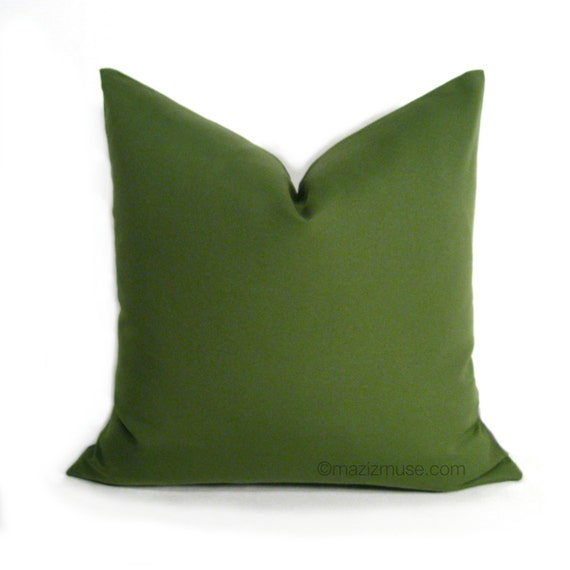 Olive Green Outdoor Pillow Cover Decorative Pillow Cover