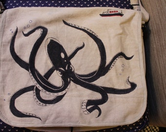 Octopus Messenger Bag