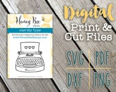 Digital Stamps: Just My Type - Honey Bee Stamps - Adorable Country SVG Print and Die Cut Files for Paper Crafting