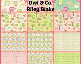 Owl & Co.Fat Quarter Fabric Bundle from Riley Blake