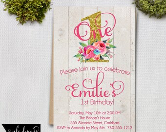 Birthday Party Invitation, Printable Invite, 1st Birthday Invitation, Briday Shower Invitation,  Invitations and Announcement, Custom Invite