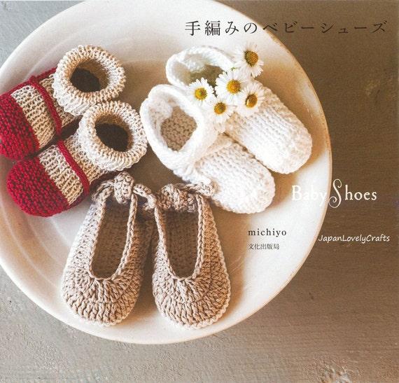 Baby Knit Shoes, Slippers Pattern, Japanese Crochet & Knitting Pattern ...