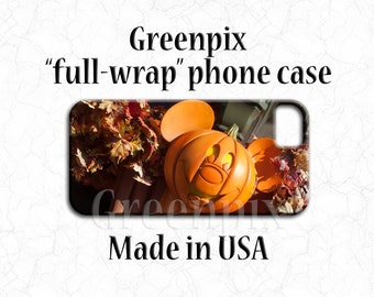 Disney Halloween iPhone 7 case, Mickey mouse pumpkin, Disney iPhone 6 Plus 6S, Galaxy S5 S6, orange fall autumn, phone cover, greenpix photo