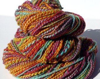 Handspun Yarn, Hand Dyed Yarn, Sport Weight Yarn, Merino Wool Yarn - Whimsical - 2 Ply Yarn