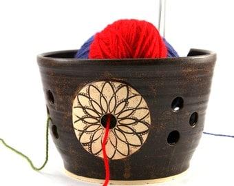 Mandala - Really Big Yarn Bowl for Chicks with Sticks - Ready to Ship
