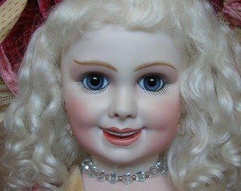 Jumeau 203 Rare Smiling bisque doll HEAD ONLY by Emily Hart Grandmaster