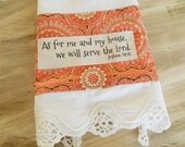 As for me and my house..., hostess gift, Bible verse dish towel