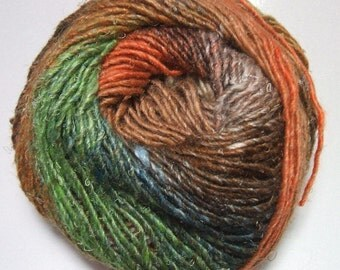 Noro Silk Garden Mohair Wool Rust Brown Green Yarn per Skein Color 417 Lot A