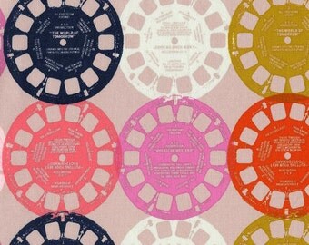 Half Yard: PLAYFUL - Viewfinders in Pink by Melody Miler for Cotton + Steel