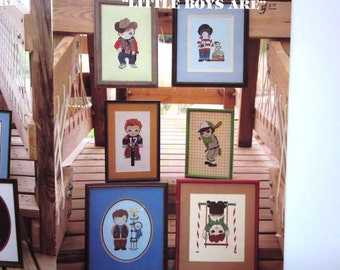 Mary Ellen Designs, LITTLE BOYS ARE, Counted Cross Stitch Booklet, 1982