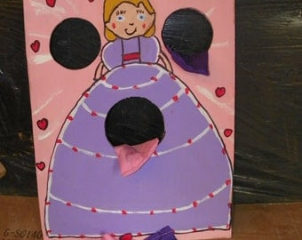 1 New  face  princess  lavender dress toss  game  with  4  bean  bags