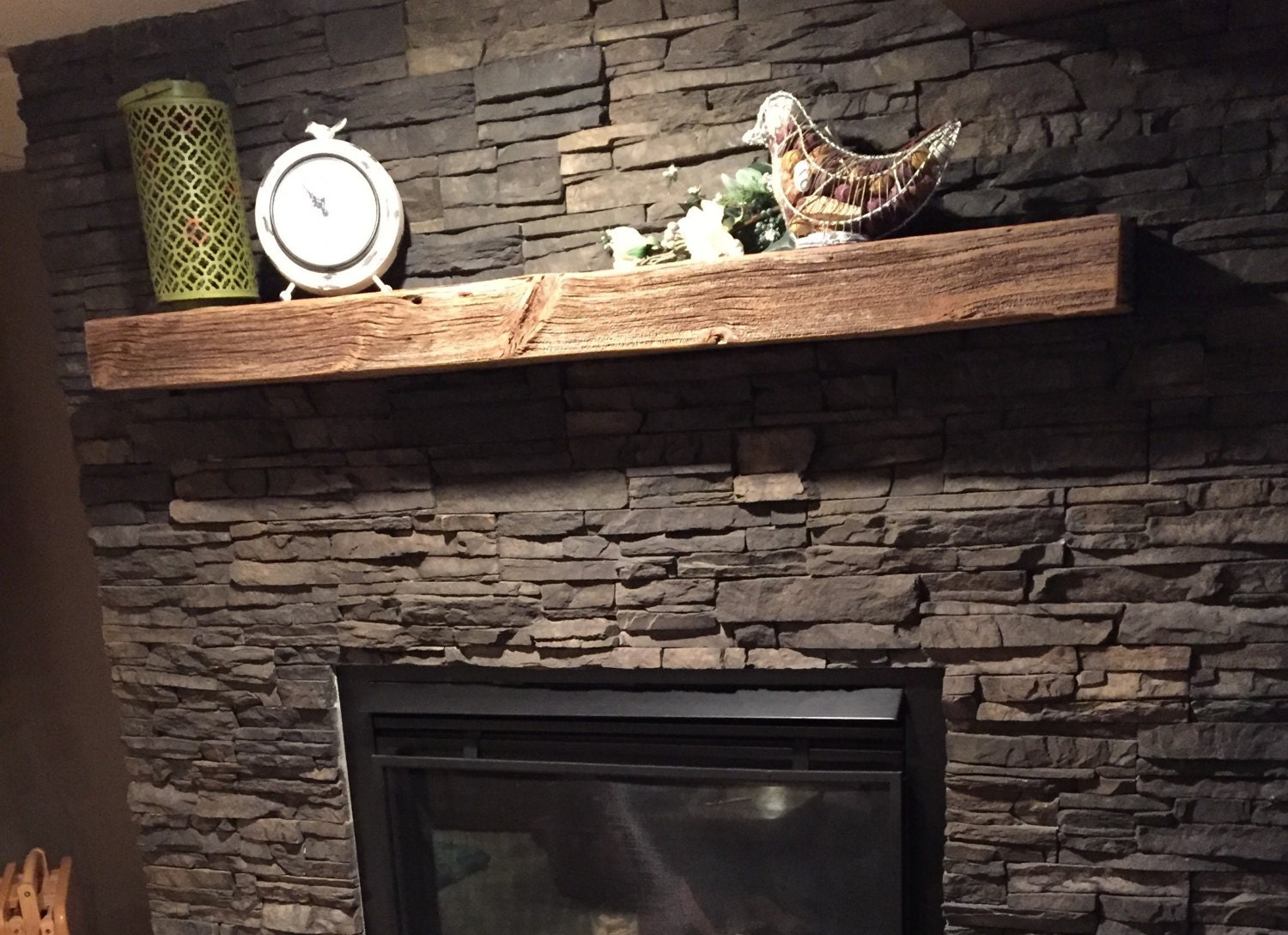 60 Floating Shelf/Mantel Made From Reclaimed Barn Wood