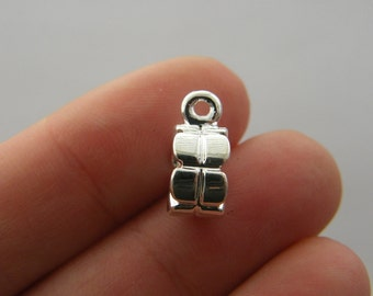 10 Bails silver plated B15