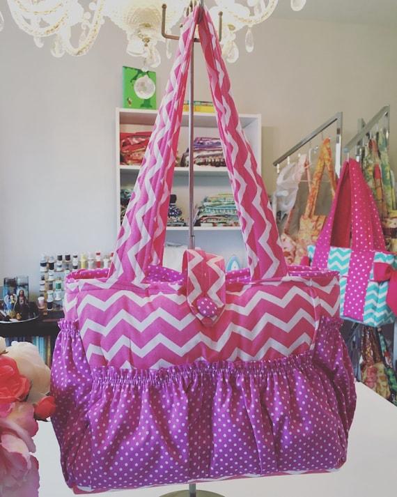 large bag diaper bag work bag school bag travel bag pink. Black Bedroom Furniture Sets. Home Design Ideas