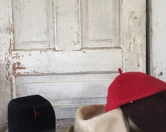 Vintage wool hats winter hats 60's Selkirk USA, Martelle west Germany, italy
