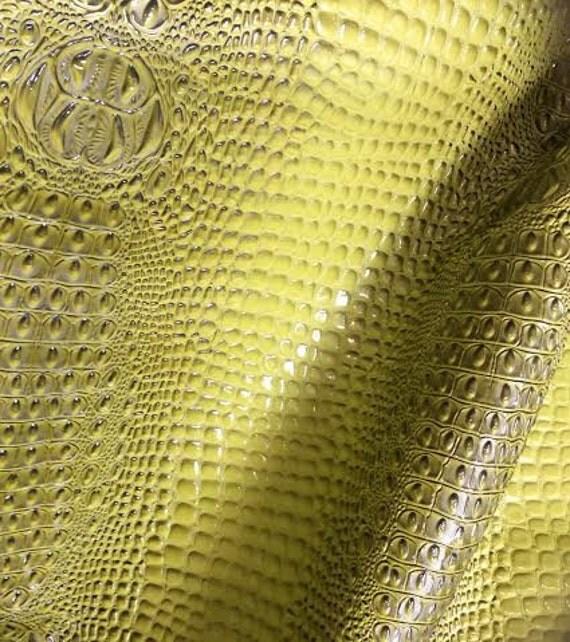 Green gator vinyl upholstery fabric kids room by fabriczoo4u for Upholstery fabric children