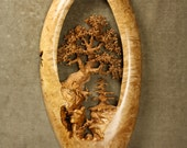 Oak Tree wood carving home wall decor gift perfect couples present