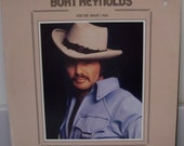 Burt Reynolds 1973 Vinyl LP Ask Me What I Am, Record Album With Poster Cover Frame Collectors Item