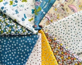 Certified Organic Cotton fabric by Cloud9 and Sarah Watson, Arcadia - half yard bundle, 9 total